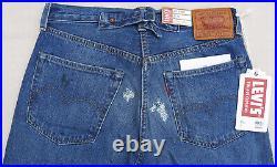 LEVIS Vintage Clothing 1937 501 Big E Cone Denim Selvedge Jean Blue Mens 30 $395