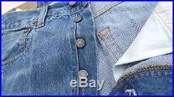 LEVIS Vintage Clothing 1947 501 Big E Cone Denim Selvedge Jean Blue Mens 36 $278