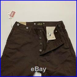 LEVI'S Vintage Clothing Chino Trouser LVC Pants Denim Jean Brown Cotton Men's 32
