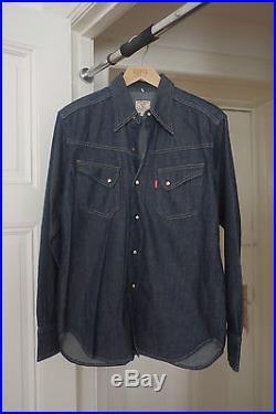 92a58057 LVC Levi's Vintage Clothing 1950's Raw Western Shirt Denim Hemd Men Medium M  NEW