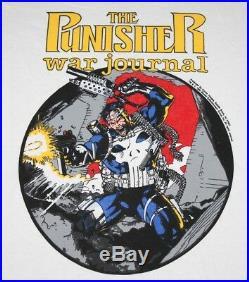 L NOS vtg 1990 The PUNISHER War Journal marvel comic t shirt 67.115