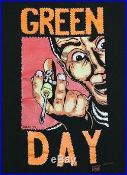 L/XL vtg 90s 1995 GREEN DAY Insomniac t shirt 23.139
