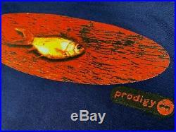 L nos vtg 90s the PRODIGY fat of the land t shirt rave techno edm dj 26.171