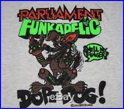 L vtg 90s 1993 PARLIAMENT FUNKADELIC George Clinton t shirt funk rap 90.45