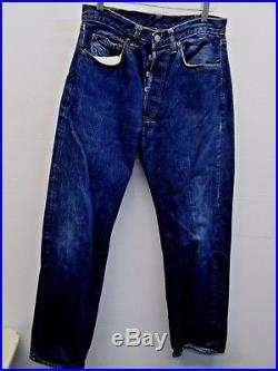 Levi's 1960 501 Big E redline selvedge Not LVC! USA 34×34 Indigo blue jeans EUC
