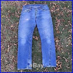 Levis True Vintage 501 Jeans, Redline Selvedge Big E 33X31