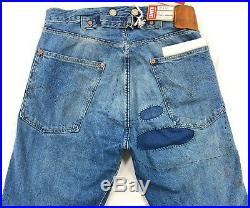 Levis Vintage Clothing LVC 1915 501 XX Selvedge Jeans Mens Size 26 Destroyed