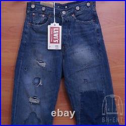 Levis Vintage Clothing LVC 1915 501 XX Selvedge Jeans Mens Sz 24 Destroyed $395