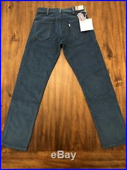 Levis Vintage Clothing LVC 1960'S White Tab Corduroy Pants Mens 28X30 Blueberry