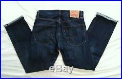 Levis Vintage Clothing LVC 505-0217 Selvedge Big E Denim Men Jean Sz34x32 Actual