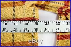 Levis Vintage Clothing LVC Authentic Western Wear Shirt Mens Medium Plaid