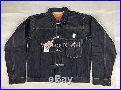 Levis Vintage Clothing LVC Mens L 1936 Type 1 Rigid Jean Jacket Cone Denim Raw