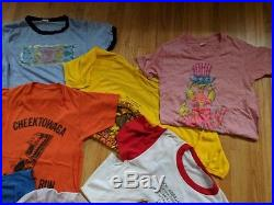 Lot 15 pc vintage 1970s 80s tshirts Champion Screen Stars & STYX concert t-shirt