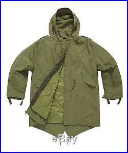 M51 Vintage Retro Fishtail Parka With Quilted Liner Sizes XS-3XL Black OD Green