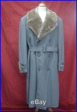 Magnifique Manteaux Vintage 1930 Gabardine Bleu Rare P. Etat Neuf Taille L