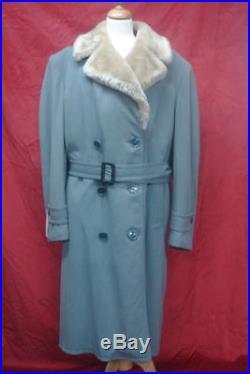 Magnifique Manteaux Vintage 1930 Gabardine Bleu Rare Tb. Etat Taille L