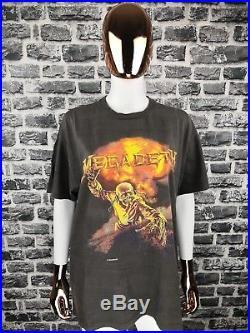 MEGADETH 1987 Vintage T-Shirt Peace Kills Tour / Very Rare Tee/ Metallica