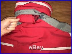 MENS XL Heavy Duty Red SPYDER One Piece SKI SUIT Snow Bib Onsie vtg Snowsuit XL