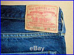 Men's LVC Levi's Vintage Clothing Cone Mills Selvage 1947 501 XX Jeans 38X34