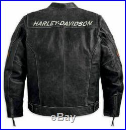 Men's Rider Harley Davidson Vintage Black Genuine Leather Jacket