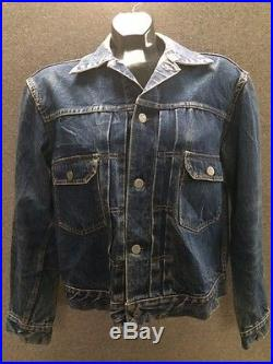 Mens LEVI'S VINTAGE BIG E Red Line Denim Blue Jeans Jacket