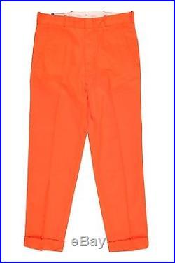Mens LEVI'S Vintage Clothing 1958 Spike Trousers W34 L32 Orange BNWT