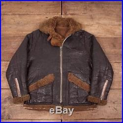 Mens Vintage 1950s B3 Shearling Sheepskin Leather Flight Jacket Medium 38 R6134