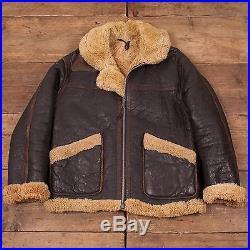 Mens Vintage 70s Lewis Leathers B3 Sheepskin Shearling Leather Jacket M 40 R5050