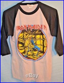 Mens Vintage 80's 1983 Iron Maiden World Piece Tour Shirt Medium