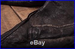 Mens Vintage B3 Black Sheepskin Leather Sherpa Flight Jacket Medium 40 R6790