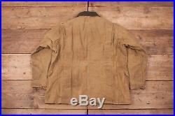 Mens Vintage Filson 64L Tin Cloth Hunting Jacket Coat USA Medium 40 XR 10101