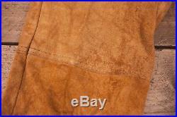 Mens Vintage RARE Levis Big E 60s Tan Suede Leather Trousers 32 x 32 XR 10164