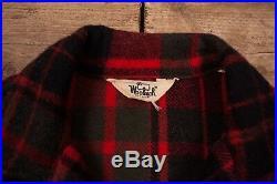 Mens Vintage Woolrich 1960s Red Check Hunting Lumberjack Shirt Large 42 R11085