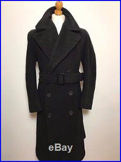 Mens vintage 1920's 1930's 1940's Savile Row belted grey overcoat size 42