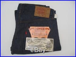 NWT DEADSTOCK Vintage Levi's 501 Redline Jeans Size 34 X 34