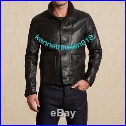 Nwt Levis Mens Vintage Clothing 1930's Menlo's Leather Jacket Coat Black Size M