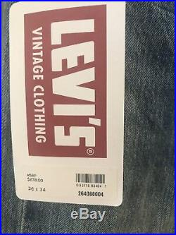 New Men's Levi's Vintage Clothing LVC 501 1976 Selvedge Riptide 36 X 34. $278