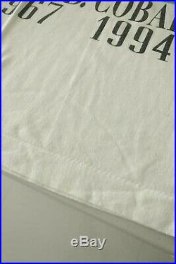 Nirvana Kurt Cobain Art T-shirt Vintage 90s Tee Shirt Medium White Rare