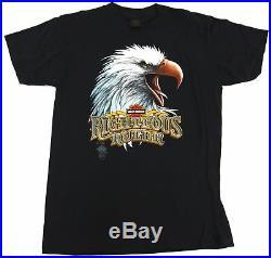Nos Vintage 1985 Harley Davidson Motorcycles Righteous Ruler 3d Emblem T Shirt