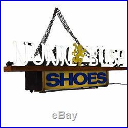 Nunn-Bush Shoe Neon Sign Advertisement Union Vintage Lighted Men's-Clothing Old