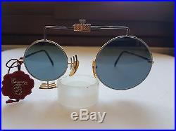 Occhiali Da Sole Uomo Vintage Casanova Mtc-5 Gold Plated 24 Kt Design Mai Usati