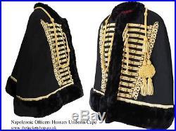 Officers Napoleonic Hussars Uniform Military Cape