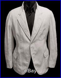 Original Vintage Circa 1910- 1920's White 100% Linen Blazer Jacket Size 38 / 40