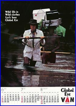 Original Vintage Poster Global Eye Fashion Japan Van Jac Mens Clothing 1970s Art