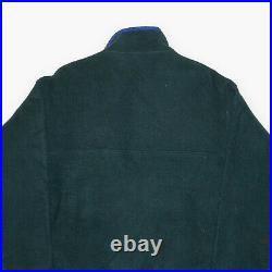 PATAGONIA Green Regular 1/4 Zip Classic Pocket RARE Fleece Mens M