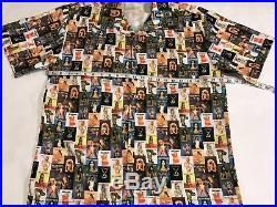 Playboy Shirt Button Up Magazine Cover All Over Print Size Large VTG 80s (A5)