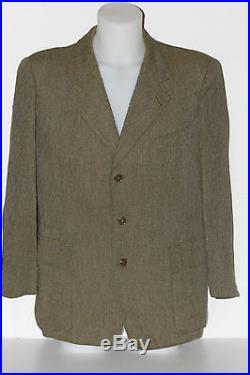 Pur vintage veste burberrys burberry laine kaki t 44