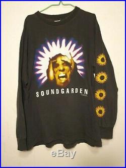 RARE 90s Soundgarden Black Hole Sun Vintage Long Sleeve T-Shirt Nirvana