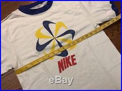 RARE Vintage 70's/ 80's Nike Pinwheel Orange Tag Ringer T-shirt Medium