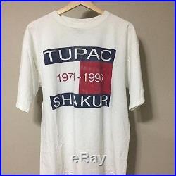 RARE! Vintage 90's Tupac Shakur Tommy Hilfiger Bootleg Tshirt Large
